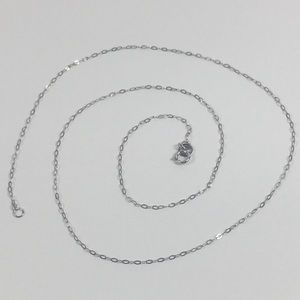 "Jewelry - 🇮🇹 Platinum Italian Rolo Chain Necklace 18"""